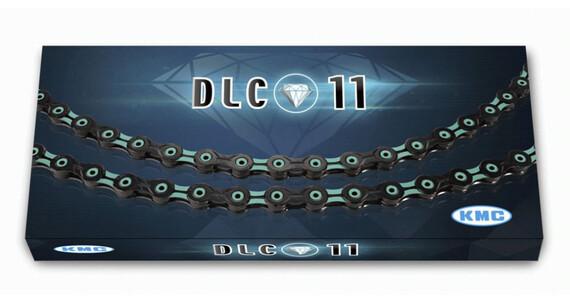 KMC X-11 SL DLC - Chaîne - 11-fois noir/turquoise